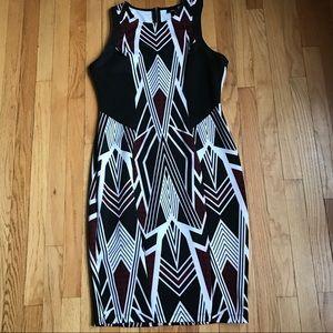 Mossimo tribal print stretchy sheath dress bodycon